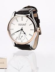 Недорогие -персональный подарок новый стиль мужской белый кожаный диск группы спорт аналоговый выгравированы часы
