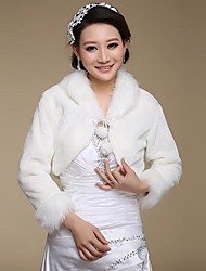 Wedding  Wraps / Fur Wraps Coats/Jackets Long Sleeve Faux Fur Wedding / Party/Evening