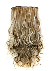 cheap -22 inch Synthetic Hair Hair Extension Classic Curly Clip In/On 1 Classic Curly Daily High Quality