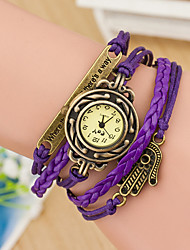 cheap -Women's Bracelet Watch / Wrist Watch Hot Sale Fabric Band Vintage Purple / One Year / Jinli 377