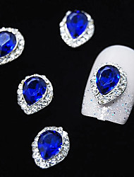 cheap -10pcs  Sapphire Crystal With Rhinestone Line Alloy Water Drop Finger Tips Nail Art Decoration