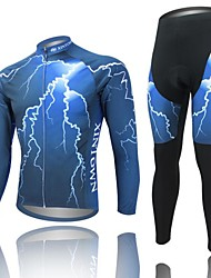 cheap -West biking Cycling Jersey with Tights Men's Long Sleeves Bike Sleeves Jersey Clothing Suits Quick Dry Anatomic Design Breathable 3D Pad