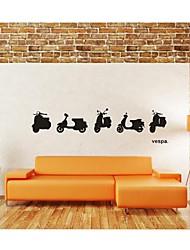 настенные наклейки наклейки на стены, украшения дома Vespa двигателя плакат ПВХ росписи стены стикеры