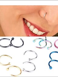 cheap -Stainless Steel Nose Ring / Nose Stud / Nose Piercing - Women's Silver Dark Blue Pink Golden Light Blue Unique Design Fashion Jewelry
