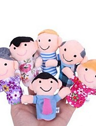 cheap -Family Members Baby Finger Puppets Baby Tell Stories Helper Stuffed Plush Dolls