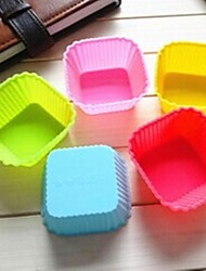 7CM Square Cake Mold Ice Jelly Chocolate Mold,Silicone 7×7×3.3 CM(2.8×2.8×1.3 INCH)