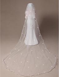 Недорогие -Свадебные вуали Два слоя Фата до локтя Фата для венчания Закруглённый край Загнутый край 118,11 в (300см) Тюль
