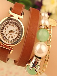 cheap -Women's Round Metal Chain Fashion Grand Pearl Leather Japanese Quartz Watch(Assorted Colors) Cool Watches Unique Watches