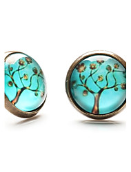 cheap -Stud Earrings Costume Jewelry Gemstone Resin Copper Jewelry For Daily Casual Sports