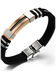 cheap -Cool Man Titanium Steel Gold-plated Bracelet Silicone