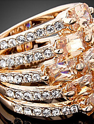 cheap -Women's Statement Rings Fashion Statement Jewelry Zircon Cubic Zirconia Alloy Jewelry Party