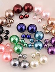Dame Stangøreringe Perle Imiteret Perle Harpiks Grå perle Pink perle Guld perle Sort perle Smykker Til Bryllup Fest Daglig Afslappet Sport
