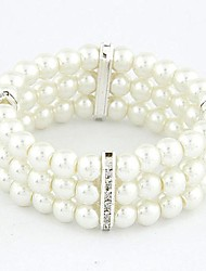 Fashion Wild Temperament Rhinestone Pearl Bracelet (More Colors) Gifts
