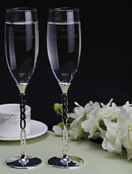 Personalized Toasting Flutes The Bride and Groom(Set of 2) Wedding Reception