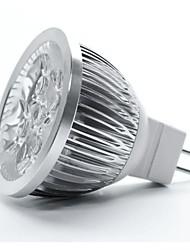4W GU5.3(MR16) Faretti LED MR16 5 leds LED ad alta intesità Bianco caldo 350-450lm 3000-3500K DC 12V