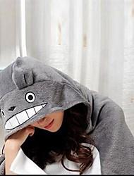 Kigurumi Pijamas Gato Totoro Ocasiões Especiais Lã Polar Velocino de Coral Kigurumi Malha Collant / Pijama Macacão Cosplay Festival /