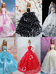 Princess Dresses For Barbie Doll For Girl's Doll Toy