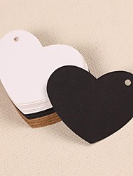 cheap -Heart Kraft Paper Hang Tags Lables for Bookmark Gift Bakery Packaging Favors Wedding Party Price Cards(Set of 50)