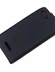 abordables -color sólido de la PU cuero de la cubierta protectora de cuerpo completo para sony xperia e3 / d2203