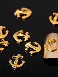 billige -Negle Smykker Smuk Neglekunst Manikyr pedikyr Metall Blomst / Abstrakt / Tegneserie