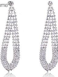 billige -Forsølvet Claw Rhinestone lang halskæde