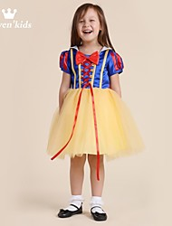 Djevojka je Jednobojni Proljeće Ljeto Jesen Bez rukávů Haljina Bijela