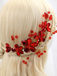 cheap -Crystal Fabric Alloy Tiaras Flowers 1 Wedding Special Occasion Party / Evening Headpiece