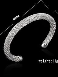 bracelet en argent sterling plaqué argent mode femmes élégant