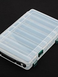 Double Layer Trannsparent Plastic Fishing Tackle Box + DX026