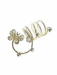 preiswerte -Ring Rhinestonelegierungslegierung 7 Gold eleganter klassischer weiblicher Stil