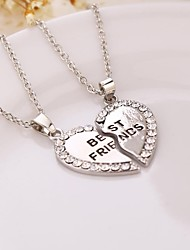cheap -Women's Heart Shape Friendship Initial Jewelry Pendant Necklace Alloy Pendant Necklace Birthday Gift Daily Casual Sports Costume Jewelry
