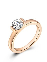 cheap -Ring - 1 Circle Stylish Classic Rose Gold Ring For Wedding Party Party / Evening