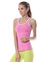 billige -Yokaland Dame Løbesinglet Uden ærmer Hurtigtørrende Åndbart Vest Tank Tops Toppe for Yoga Pilates Træning & Fitness Løb Nylon Spandex