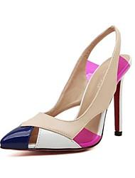 povoljno -Žene Cipele Umjetna koža Proljeće Ljeto Stiletto potpetica Kombinacija materijala za Formalne prilike Badem Crna