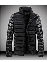 economico -moda giunzione casuale cotone imbottito vestiti termici degli uomini di Niki