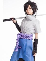 Inspiriert von Naruto Sasuke Uchiha Anime Cosplay Kostüme Cosplay Kostüme Patchwork Top Hosen Handschuhe Schürze Taille Accessoire Für