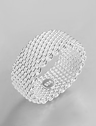 2016 Fashion Luxury Simple Mesh Creative Sterling Silver Band Ring For Women