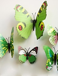 Wall Stickers Wall Decals, Green Magnetic Butterfly Sticker PVC Wall Stickers.