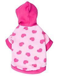 Недорогие -Кошка Собака Толстовки Одежда для собак С сердцем Синий Розовый Флис Костюм Для домашних животных