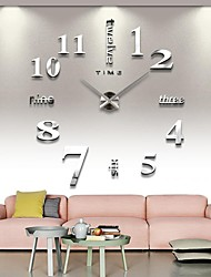 cheap -3D Large Mental Home Decor DIY Creative Personality Wall Clock for Living Room 12S015-S