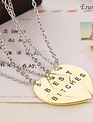 cheap -Women's Pendant Necklace - Heart Golden Necklace Jewelry 3pcs For Daily, Casual, Sports