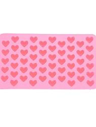 economico -55-slot di muffa del vassoio della muffa della torta del silicone a forma di cuore biscotto cottura bakeware (rosa)