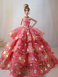 Movie/TV Theme Costumes Dresses For Barbie Doll Dresses For Girl's Doll Toy