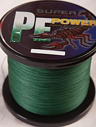 cheap -1000M / 1100 Yards PE Braided Line / Dyneema / Superline Fishing Line Dark Green 30LB / 50LB / 40LB / 45LB 0.26mm,0.29mm,0.30mm,0.32mm mm