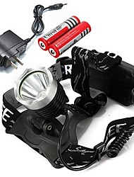 Torce frontali LED Lumens Modo Cree XM-L T6 Messa a fuoco regolabile Ricaricabile per Campeggio/Escursionismo/Speleologia Multiuso