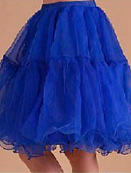 Slips A-Line Slip Ball Gown Slip Short-Length 3 Light Yellow Sky Blue Red Blue Blushing Pink