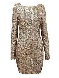povoljno -Žene Vintage Slatko Bodycon Haljina - Moderna Jedna boja, Jednobojni