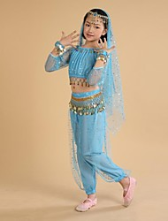 cheap -Shall We Belly Dance Outfits Children Performance Training Dress
