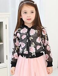 Dívka je Květinový Podzim / Jaro Blůzky / Bundičky a kabáty Šifon / Viskóza Černá / Bílá