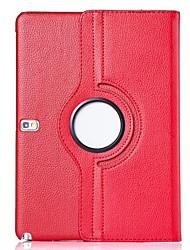 abordables -SHI CHENG DA Funda Para Samsung Galaxy Funda Samsung Galaxy con Soporte / Flip / Rotación 360º Funda de Cuerpo Entero Un Color Cuero de PU para Tab 4 10.1
